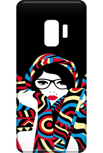 Mobilteam Samsung Galaxy S9 Gözlüklü Kadın Silikon Telefon Kılıfı