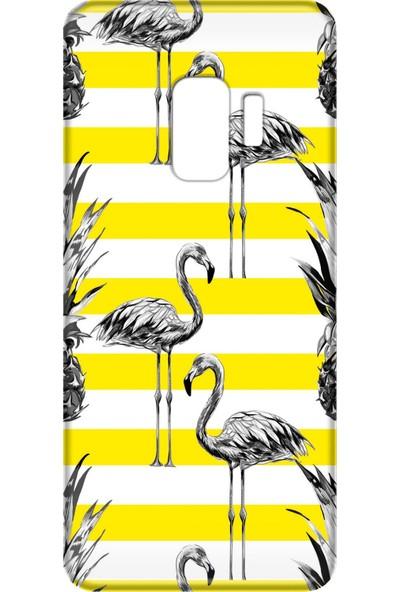 Mobilteam Samsung Galaxy S9 Flamingolar Silikon Telefon Kılıfı