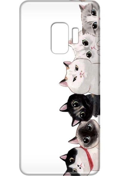 Mobilteam Samsung Galaxy S9 Kediler Silikon Telefon Kılıfı