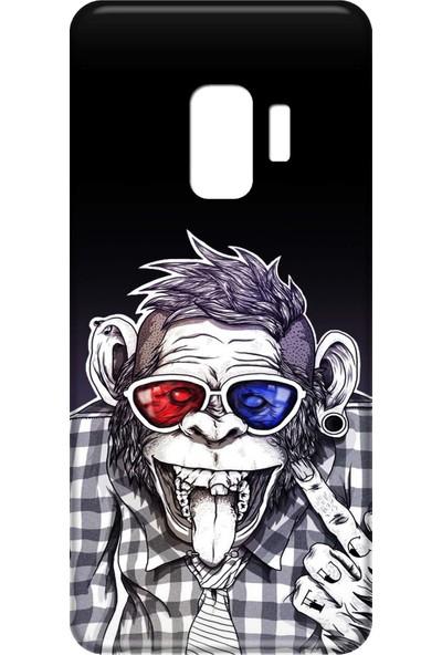 Mobilteam Samsung Galaxy S9 Gözlüklü Maymun Silikon Telefon Kılıfı