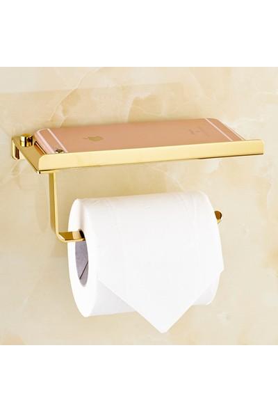Hedi'S Cep Telefonu Raflı Gold Tuvalet Kağıtlığı