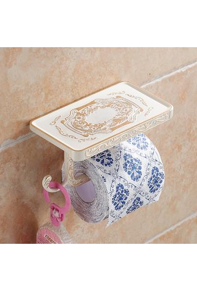 Hedi'S Cep Telefonu Raflı Beyaz Gold Tuvalet Kağıtlığı