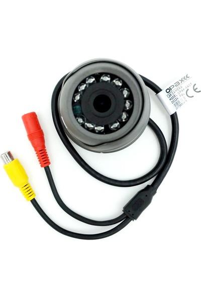 Opax 6407 700 TVL 120 Derece 12 IR Led Gece Görüşlü Araç Kamerası Rca Video