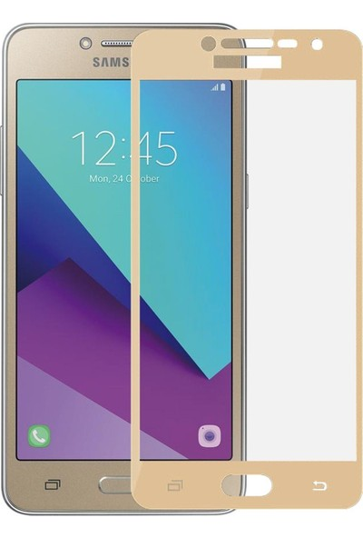 Teleplus Samsung Galaxy J2 Prime Tam Kapatan Cam Ekran Koruyucu Gold