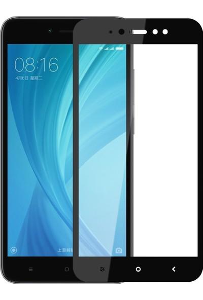 Teleplus Xiaomi Redmi Note 5A Prime Tam Kapatan Cam Ekran Koruyucu Siyah