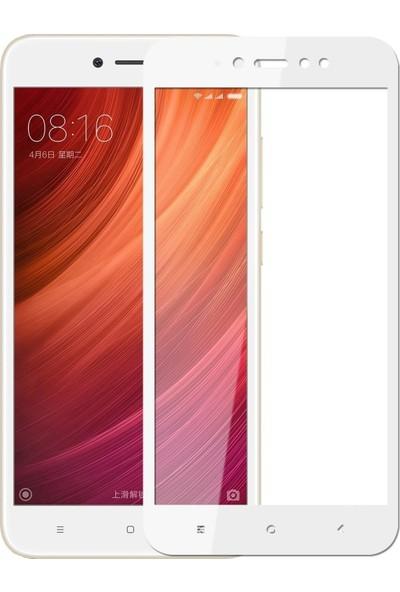 Teleplus Xiaomi Redmi Note 5A Prime Tam Kapatan Cam Ekran Koruyucu Beyaz