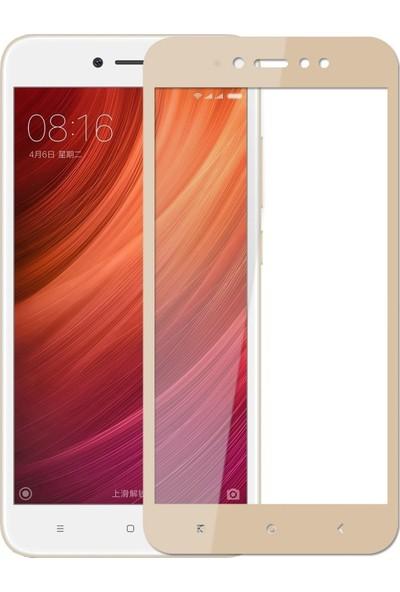 Teleplus Xiaomi Redmi Note 5A Prime Tam Kapatan Cam Ekran Koruyucu Gold