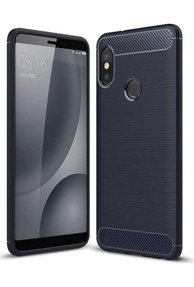 Teleplus Xiaomi Mi 8 Se Özel Karbon ve Silikonlu Kılıf Lacivert + Nano Ekran Koruyucu