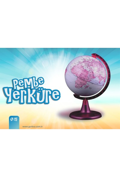 Pembe Dünya Küre, 15 cm