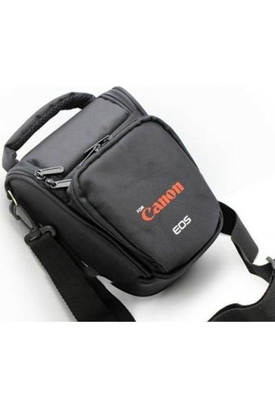 Canon Dslr Fotoğraf Makinesi Üçgen Çanta