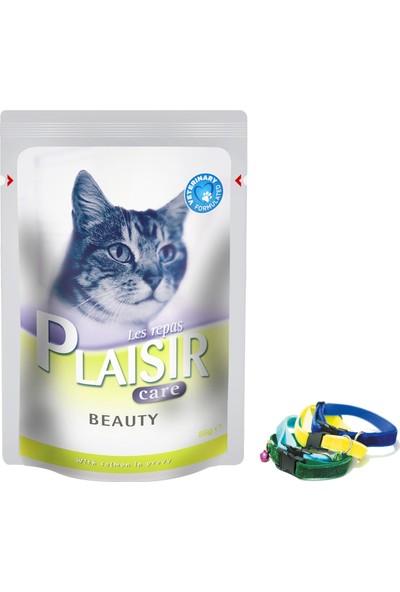 Plaisir Beauty Tüy Dökülmesi Azaltıcı Sos İçinde Somon Parçacıklı Kedi Maması 32x85 Gr