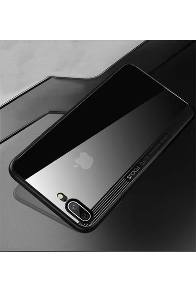 Moguu Apple iPhone 8 Siyah ince Sert ve Slikon Ultimate Kılıf