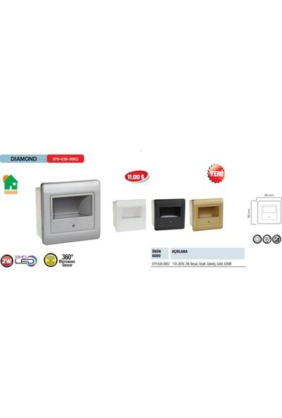 Horoz Diamond 4200K Ilık Beyaz Işık 2W Smd Led Beyaz Renkte 360 Derece Microsensörlü Ev İçi Armatür