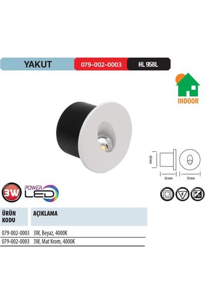 Horoz Yakut 3W 4000K Ilık Beyaz Işık Smd Led Beyaz Renk Armatür