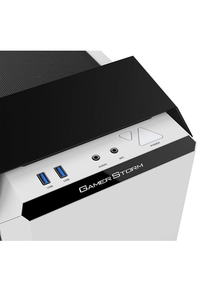 Deep Cool BARONKASE LIQUID Dahili Sıvı Soğutmalı 2xUSB 3.0 RGB Fan PCI/AGP 340mm Beyaz ATX Kasa