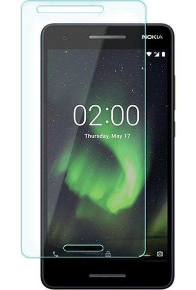 Case 4U Nokia 2.1 Temperli Cam Ekran Koruyucu
