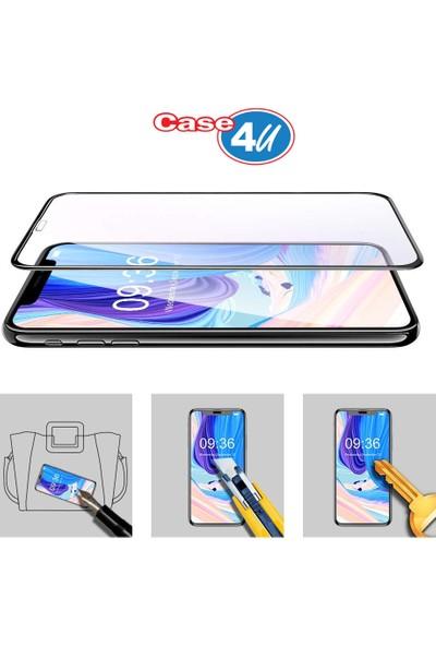 Case 4U Apple iPhone XS Max - iPhone 11 Pro Max 3D Kavisli Cam Ekran Koruyucu - Siyah