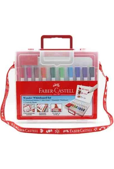 Faber-Castell Çantalı Beyaz Tahta Kalemi 10 Renk