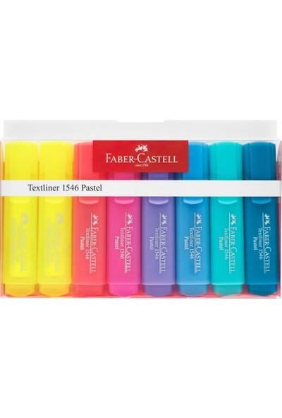 Faber-Castell 1546 Pastel Fosforlu Kalem 8'li