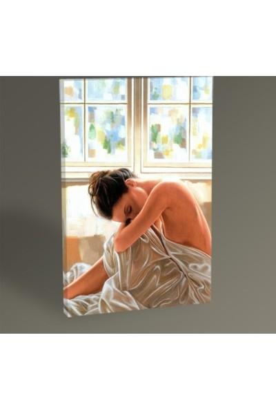 Kadın Dekoratif Kanvas Tablo 40X100 Cm