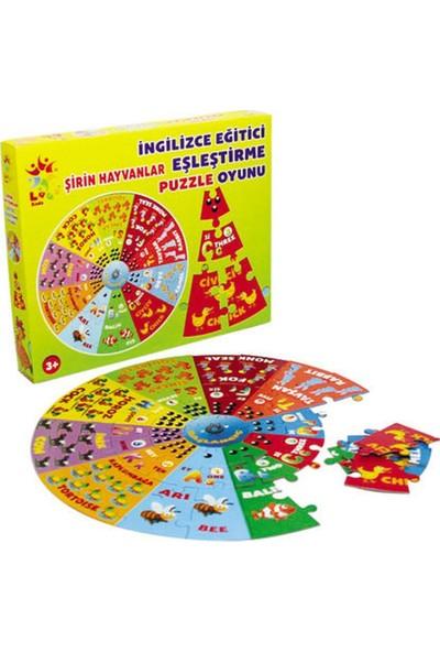 Laço Kids Şirin Hayvanlar İngilizce Eğitici Puzzle