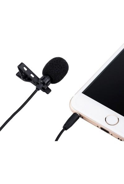 Blueway Yaka Mikrofonu HD Ses Aux Girişli Cep Telefonu Uyumlu 3.5mm Jak