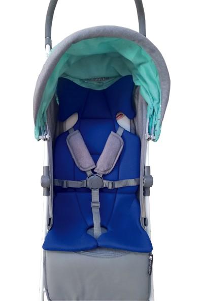 Novaçocuk Bebek Arabası İç Minderi Mavi
