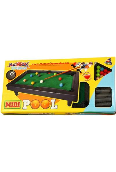 """Matrax Oyuncak """"MIDI POOL"""" Orta Boy Bilardo Oyunu"""
