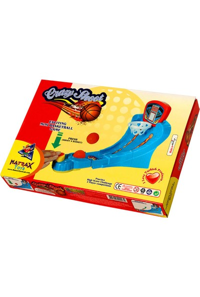 Matrax Oyuncak ÇILGIN ATIŞ Mini Basket Oyunu