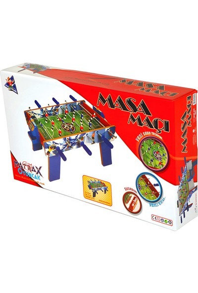 Matrax Oyuncak Ahşap Masa Maçı Oyunu Orta Boy (AYAKLI)