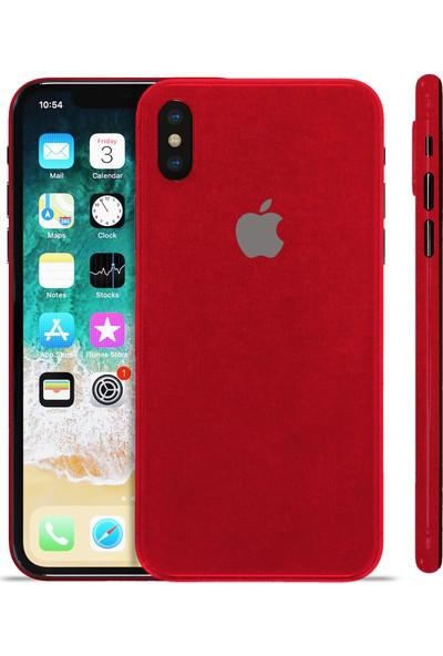 Grafityp Apple iPhone X Velvet (Kadife Doku) Koruyucu Telefon Kaplaması