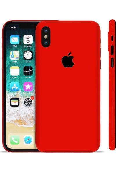 Grafityp Apple iPhone X Mat Kırmızı Koruyucu Telefon Kaplaması