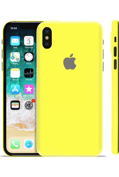 Grafityp Apple iPhone X Ambulance Sarı Koruyucu Telefon Kaplaması