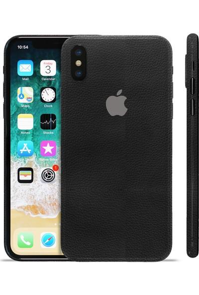 Grafityp Apple iPhone X Siyah Deri Koruyucu Telefon Kaplaması