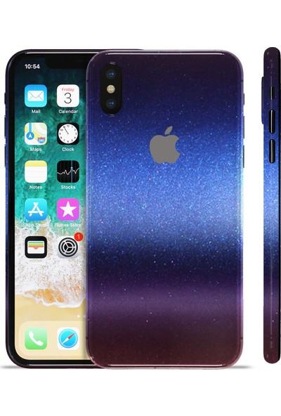 Grafityp Apple iPhone X Parlak Mavi/Kırmızı Koruyucu Telefon Kaplaması