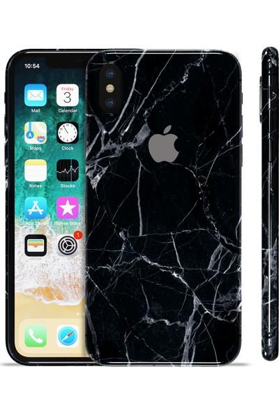 Grafityp Apple iPhone X Siyah Marble Koruyucu Telefon Kaplaması