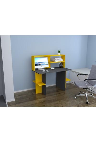 Rafline Brand Çalışma Masası Sarı Antrasit