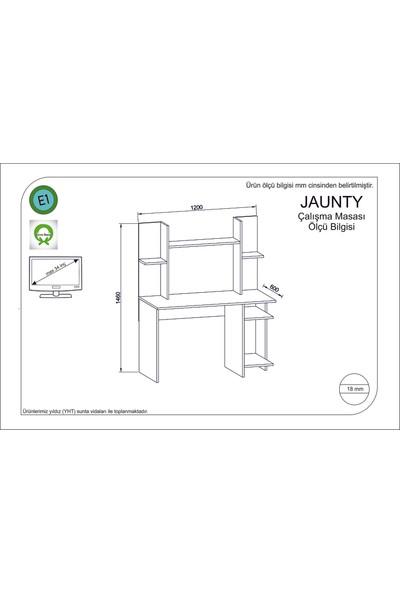 Rafline Jaunty Çalışma Masası Beyaz-Kırmızı