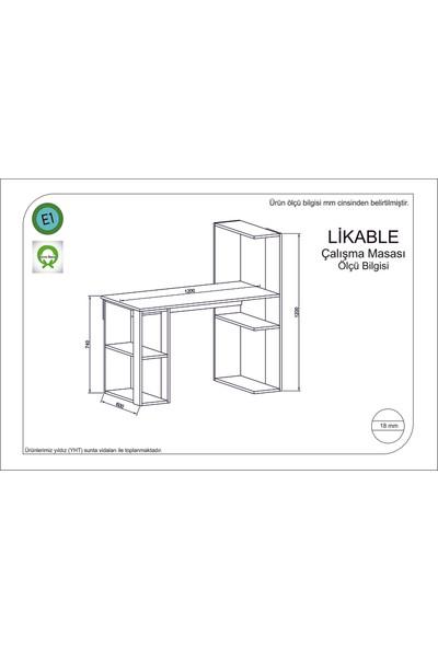 Rafline Likaple Çalışma Masası Çırağan-Siyah