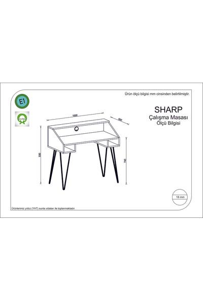 Rafline Sharp Çalışma Masası Safir Meşe