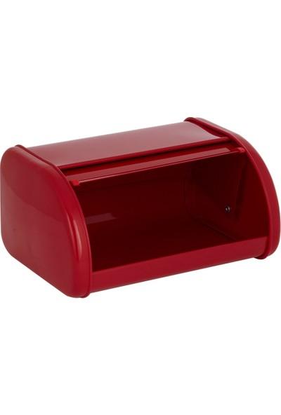 Sürgülü Ekmek Kutusu Kırmızı (Galvaniz)
