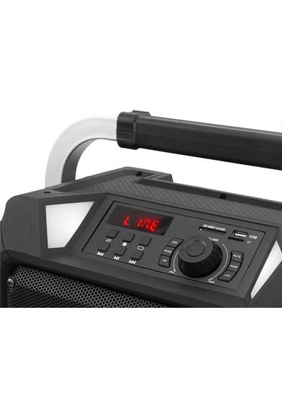 Mikado Md-90Kp 12V5.5Ah Siyah Usb + Fm Destekli Bluetooth 2 Uhf Kablosuz Mikrafon Öğretmen/Toplantı Anfisi