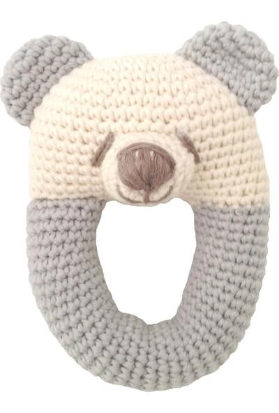 Pacco Baby Gri Ayıcık Diş Kaşıyıcı Çıngırak