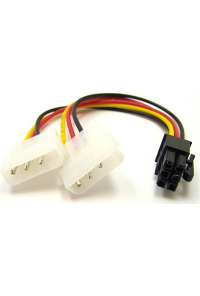Oem Pcı E VGA Power Kablo 6 Pin To 2X4 Pin Molex Kablo