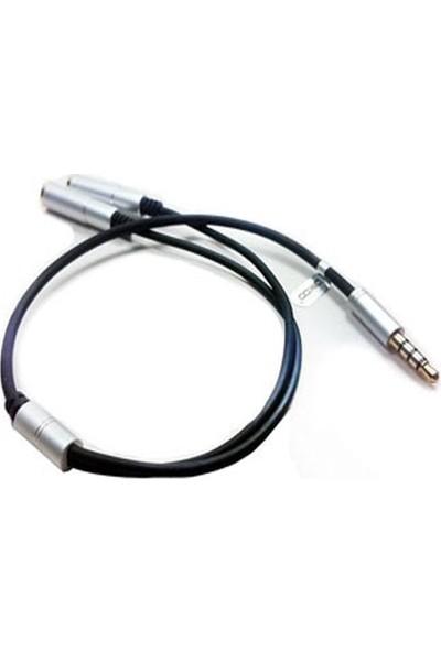 Platoon PLH-046 Kulaklık Çoklayıcı 3.5 mm Gold Stereo 4 Boğum Y Splitter Kablo