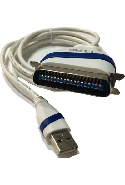 Ttaf 96080 USB2.0 Paralel Dot Matrix Yazıcı Kablosu 1.8 m