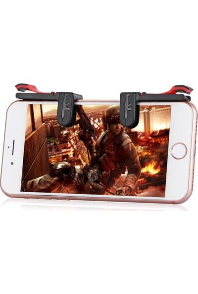 Smartsepet Tüm Telefonlar İçin Çift Oyun Adaptörü PubG Ateş Düğmesi M24 Siyah