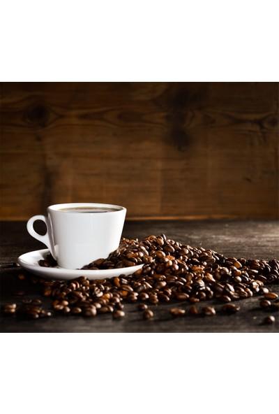Tilki Dünyası Mutfak Ocağı Arkası Kahve Çekirdekleri ile Kahve Sticker