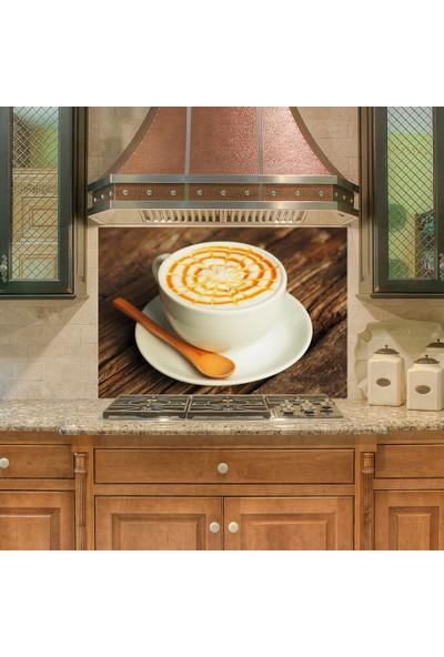 Tilki Dünyası Mutfak Ocağı Arkası Bi Kahve Sticker