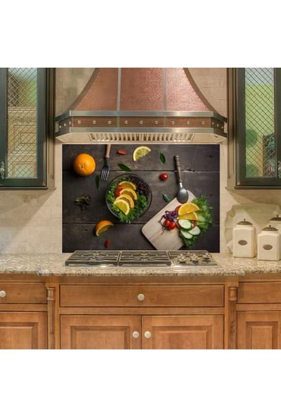 Tilki Dünyası Mutfak Ocağı Arkası Sebzeler Hazır Sticker